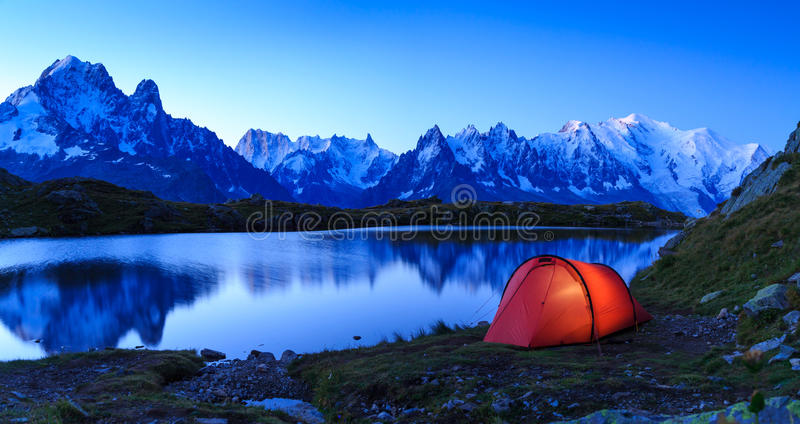 Chamonix campsite obrazy royalty free