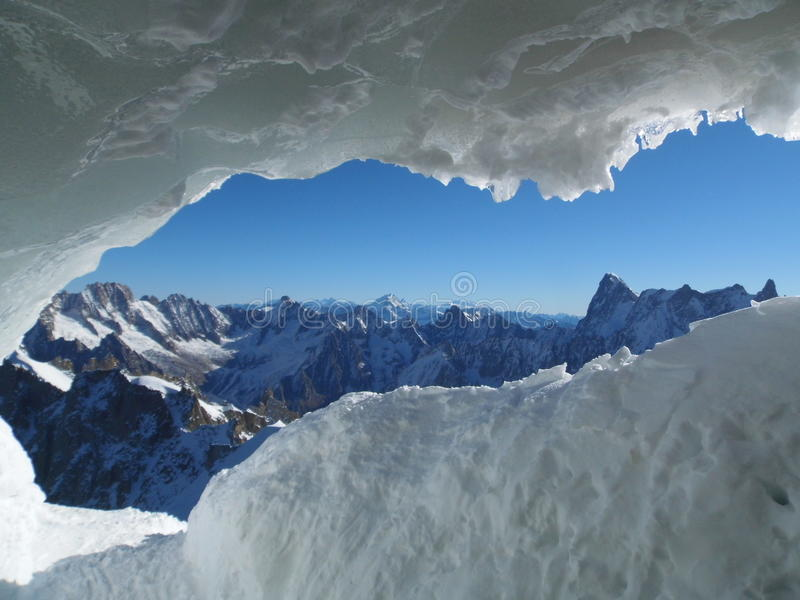 Chamonix France, Aiguille du Midi, Mont blanc stock photo