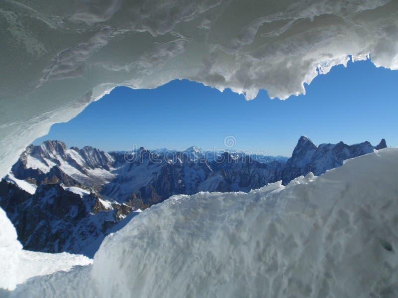 Chamonix Francja, Aiguille du Midi, Mont blanc zdjęcie stock