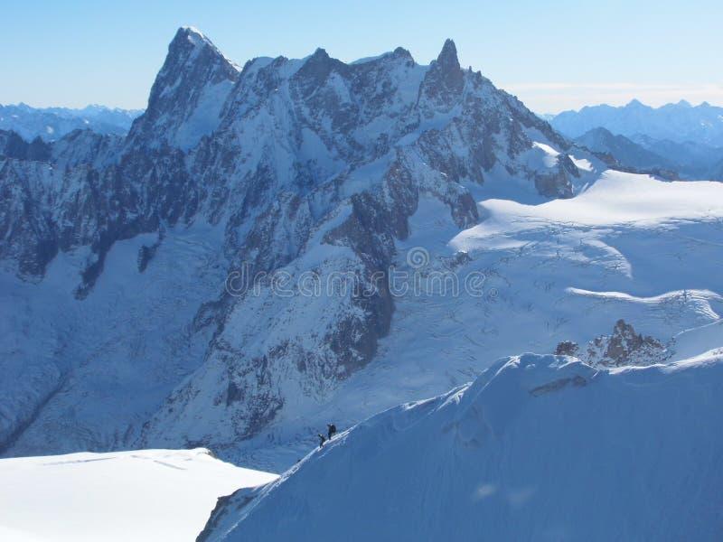 Chamonix Francja, Aiguille du Midi, Mont blanc obraz royalty free