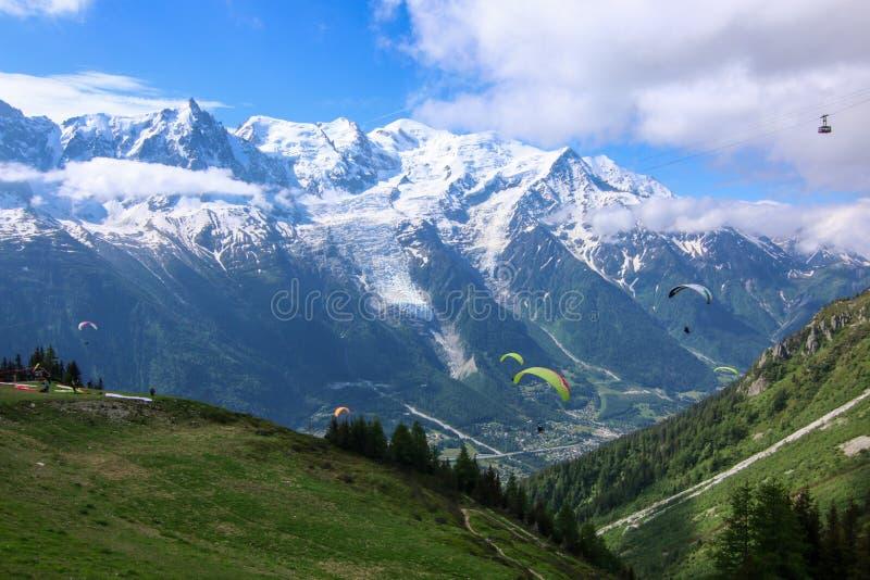Chamonix Mont Blanc stockbilder