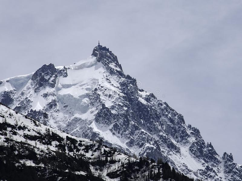 Chamonix MONT BLANC Berg lizenzfreies stockfoto