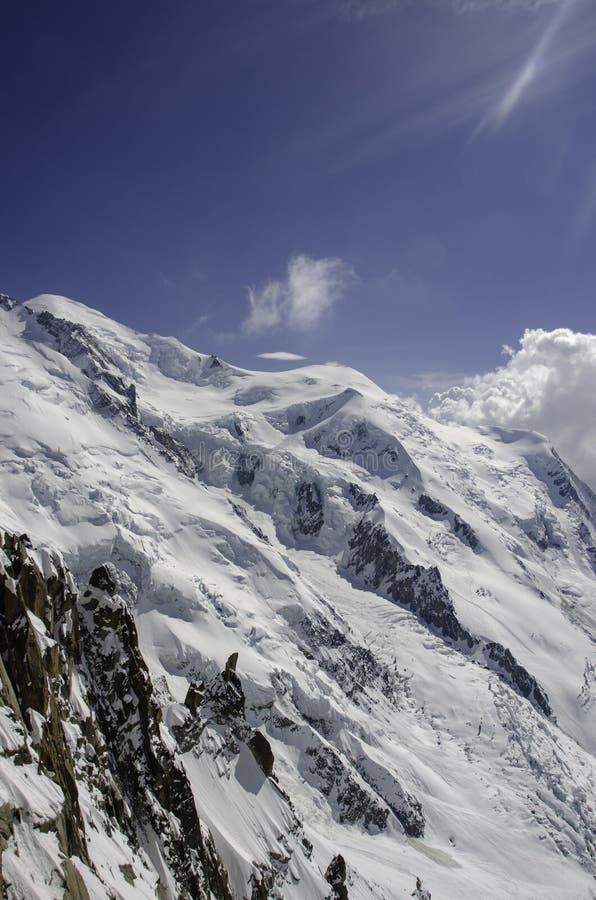 Chamonix MONT BLANC Berg schnee stockbilder