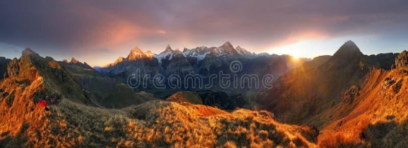 Chamonix Mountain Peaks royalty free stock images