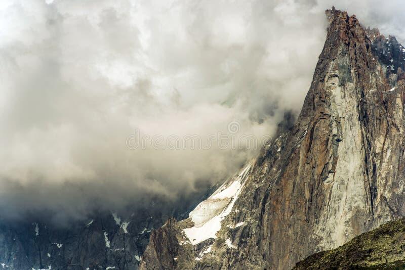 Chamonix Mt Blanc Massif stockbilder