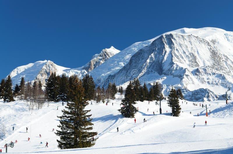 Chamonix ośrodek narciarski fotografia royalty free