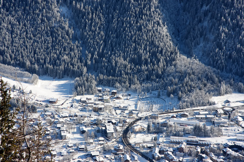 Chamonix in winter royalty free stock image