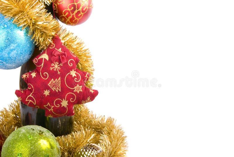Champán de la Navidad imágenes de archivo libres de regalías