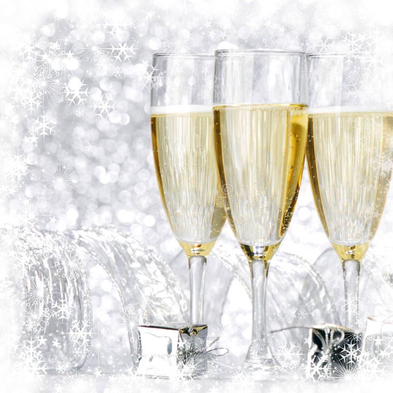 Champán del Año Nuevo foto de archivo libre de regalías