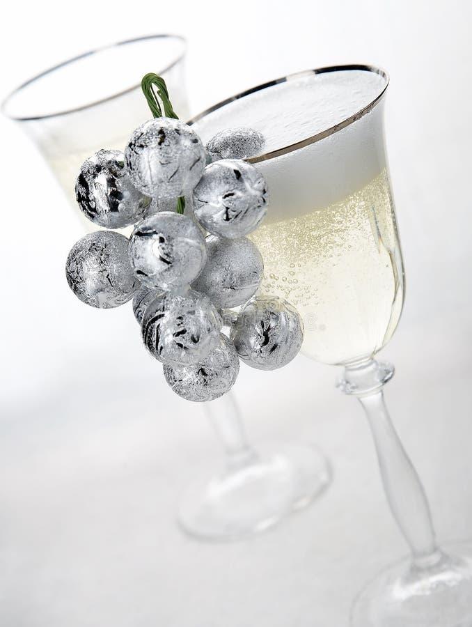 Champán del Año Nuevo fotos de archivo