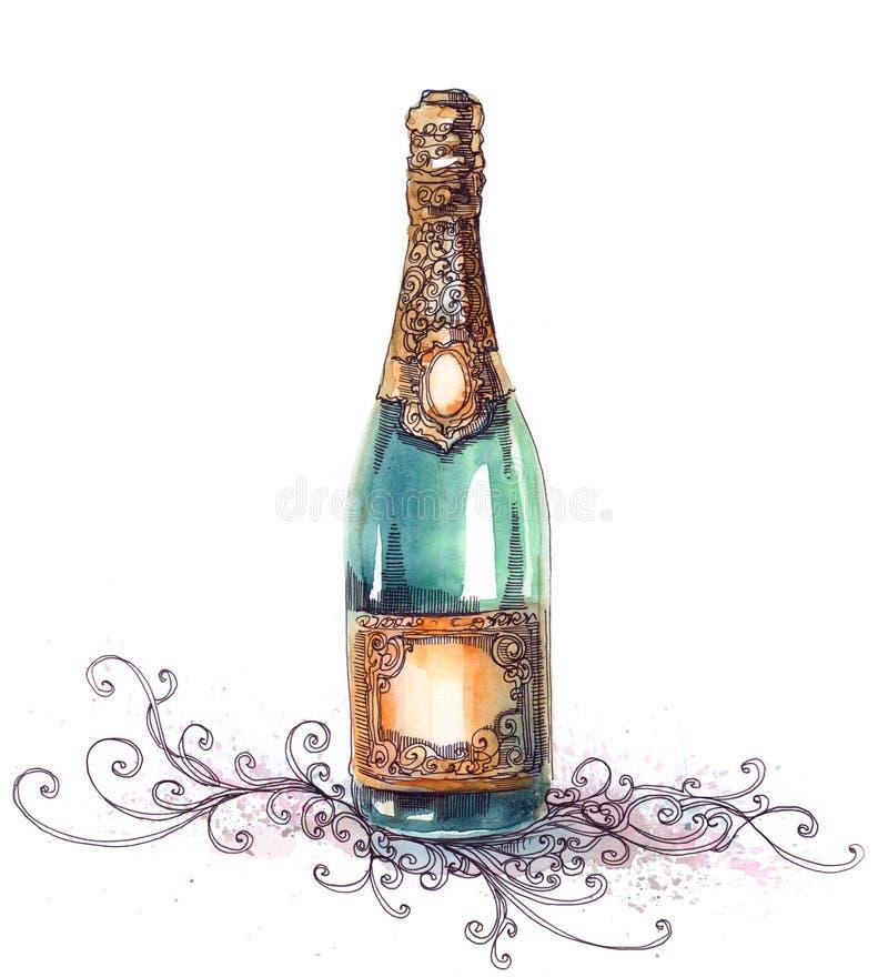 Champán del día de fiesta ilustración del vector
