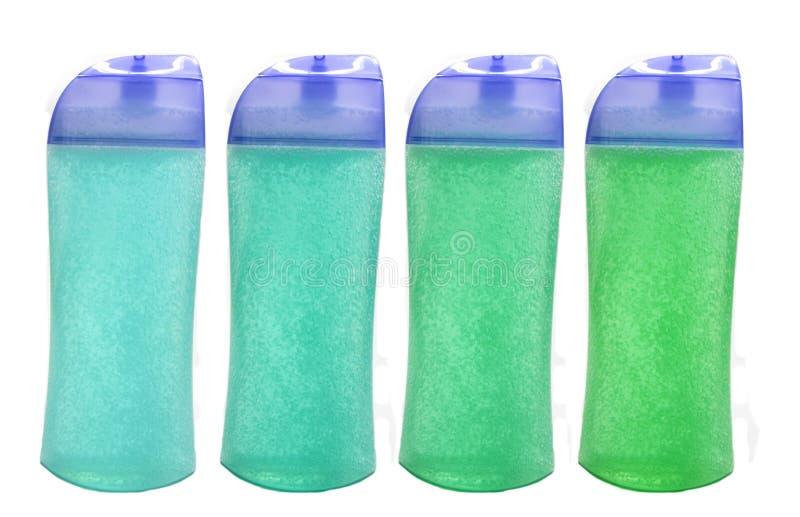 Champô do chuveiro e frascos ajustados do gel do chuveiro fotos de stock royalty free