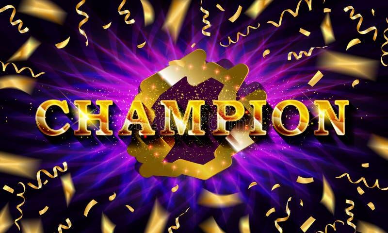 Champ Congratulazioni per la cornice vintage royalty illustrazione gratis