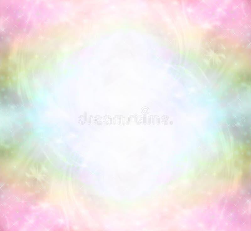 Champ curatif d'énergie de la lumière d'arc-en-ciel éthéré illustration libre de droits