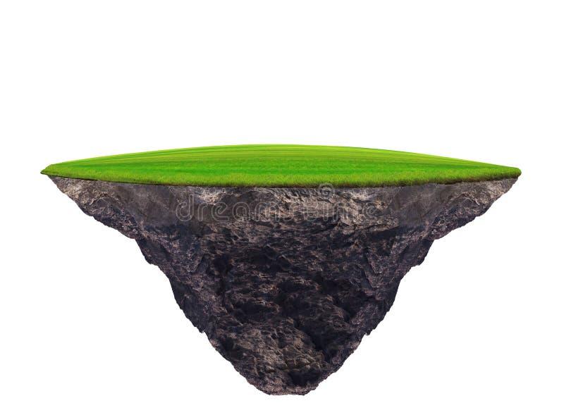 Champ d'herbe verte de flottement sur l'utilisation blanche pour le fond universel photographie stock