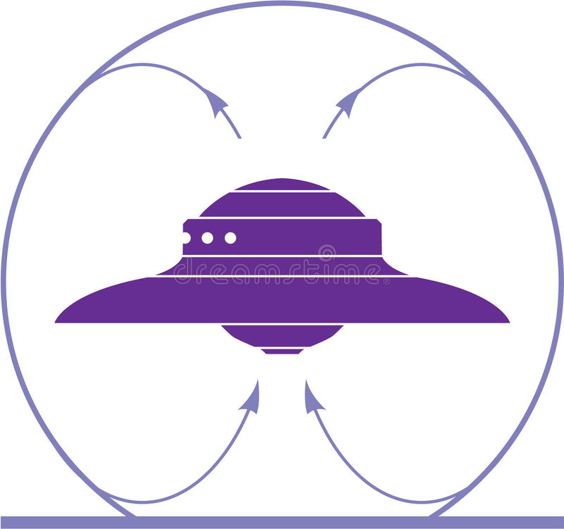 Champ d'UFO illustration de vecteur