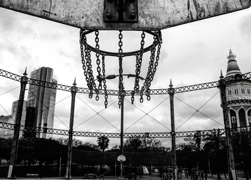 Champ de basket-ball image stock