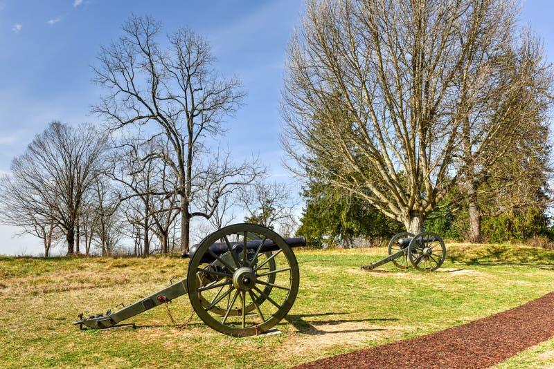 Champ de bataille - Fredericksburg, la Virginie images libres de droits