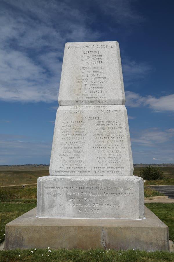 Champ de bataille de ressortissant de Little Bighorn photographie stock