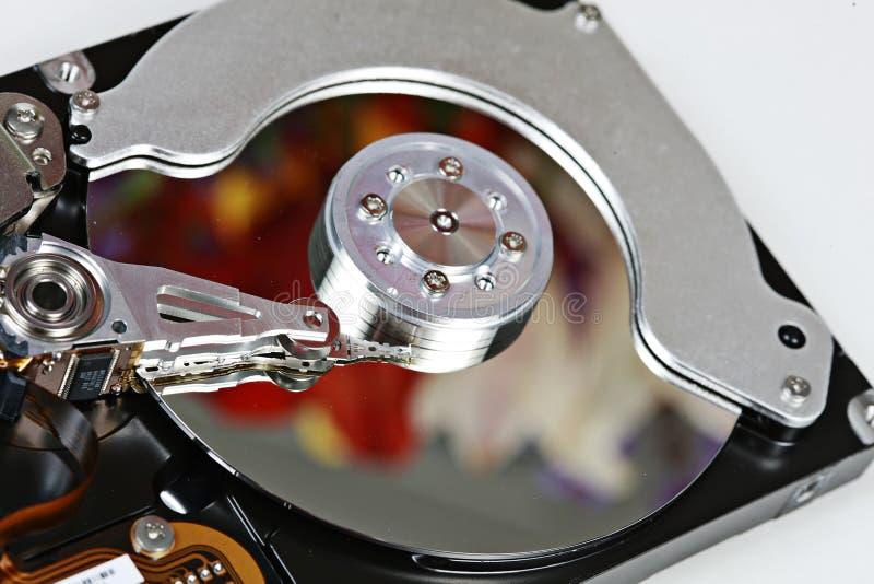 Champ de cablage à couches multiples de disque dur images stock