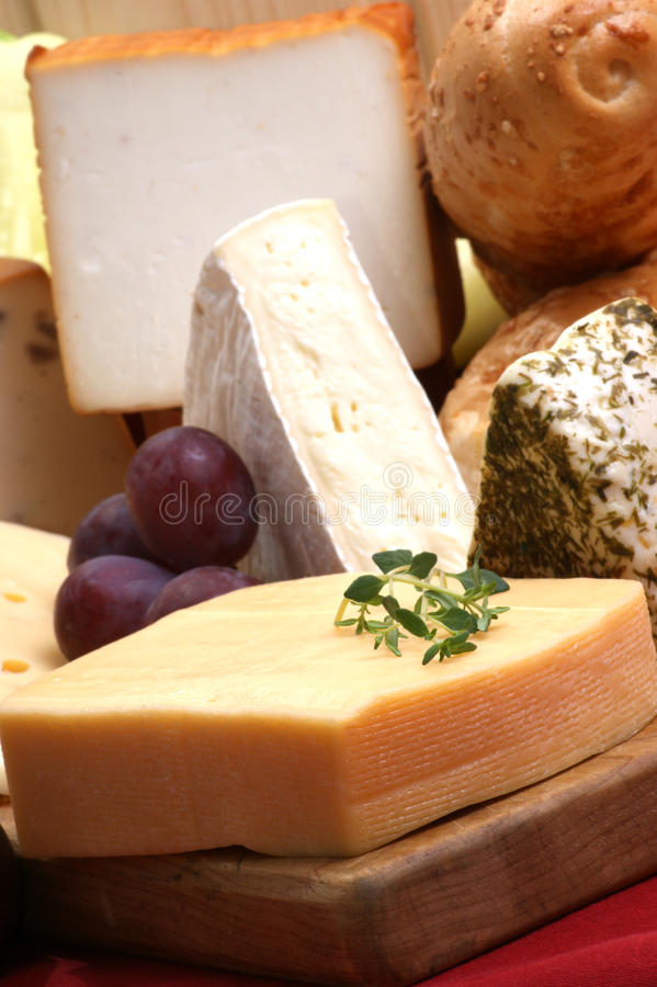 Champ de cablage à couches multiples de fromage avec du fromage frais photos libres de droits