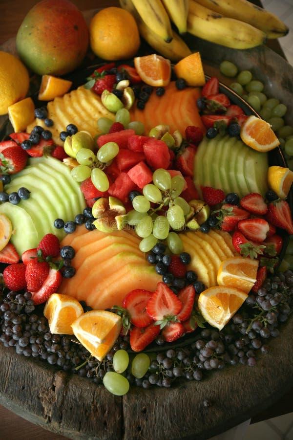 Champ de cablage à couches multiples de fruit frais photographie stock