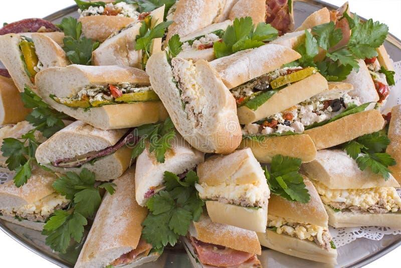 Champ de cablage à couches multiples de sandwich à baguette photo stock