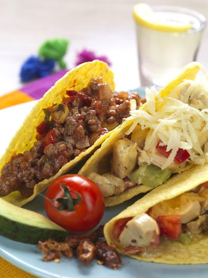 Champ de cablage à couches multiples de tacos photos stock