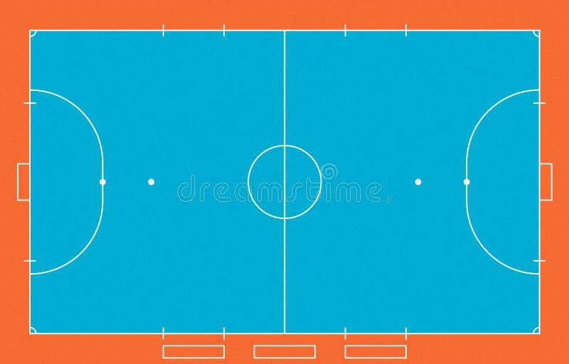 Champ de Futsal photo libre de droits