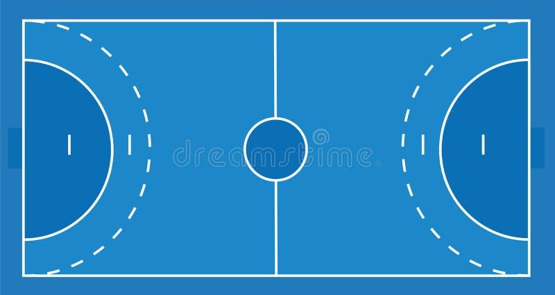 Champ de handball, vue supérieure illustration stock