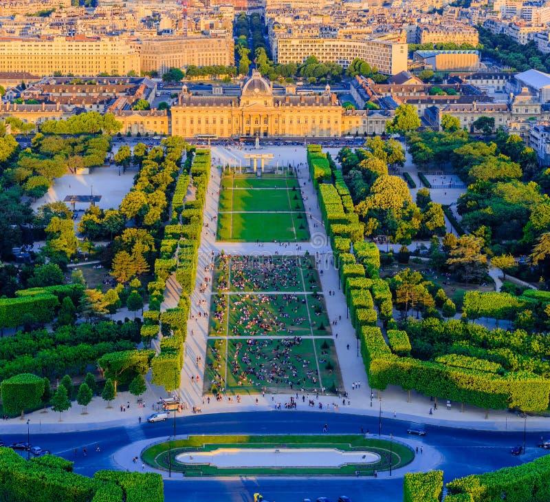Champ de Mars, Parijs, Frankrijk stock fotografie