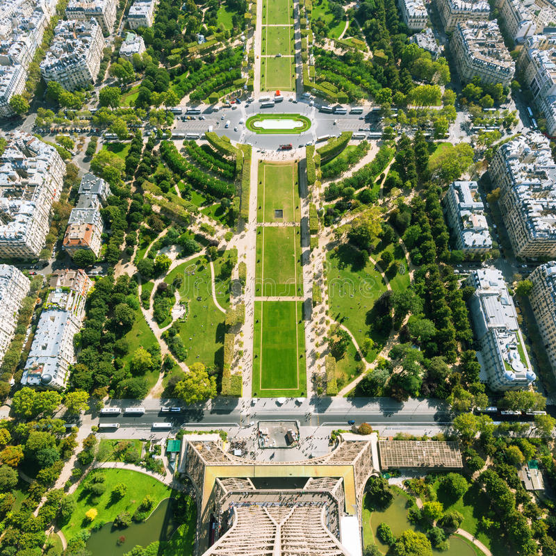 The Champ de Mars, Paris royalty free stock photography