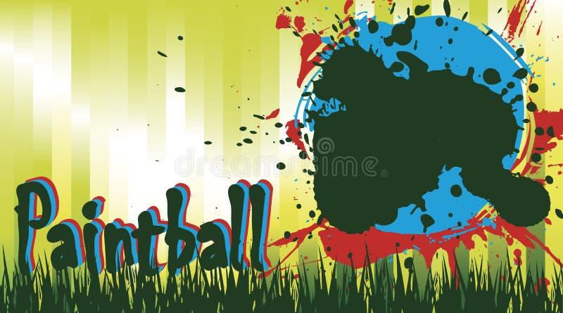 Champ de Paintball illustration libre de droits