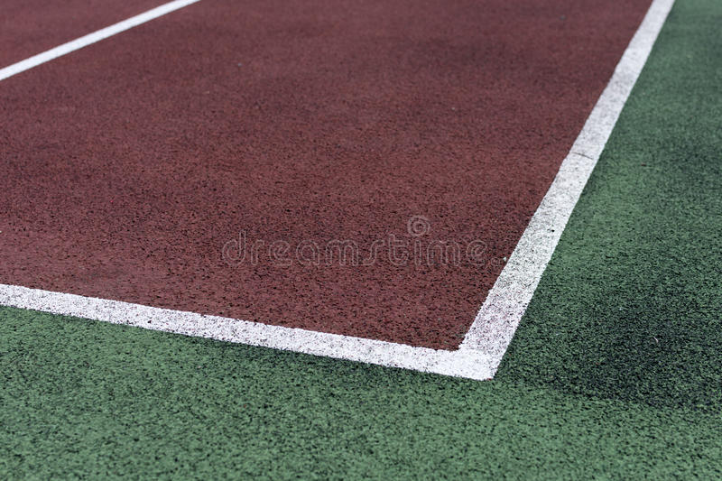 Champ de tennis image stock