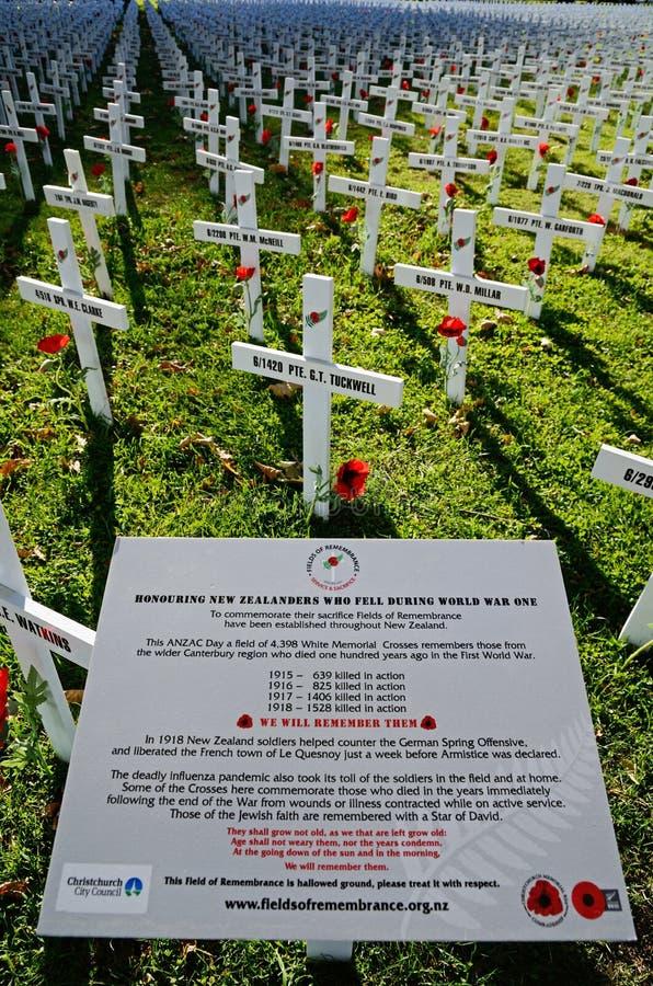 Champ des croix pour Anzac Day photos libres de droits