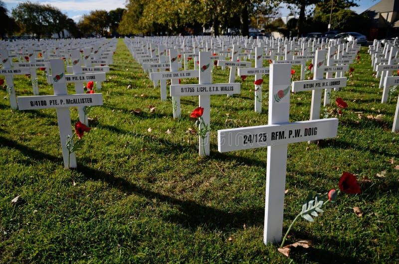 Champ des croix pour Anzac Day images stock