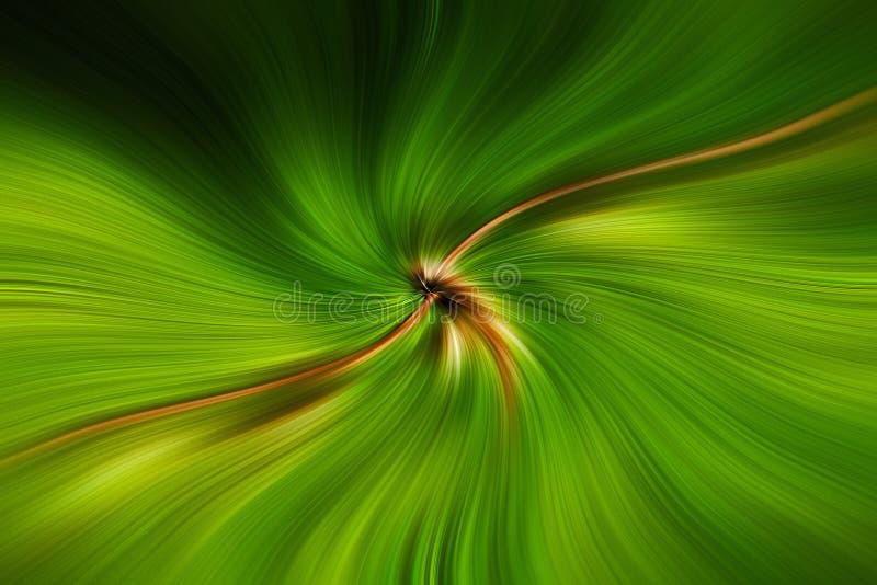 Champ des lignes vert se déplaçant l'espace illustration de vecteur
