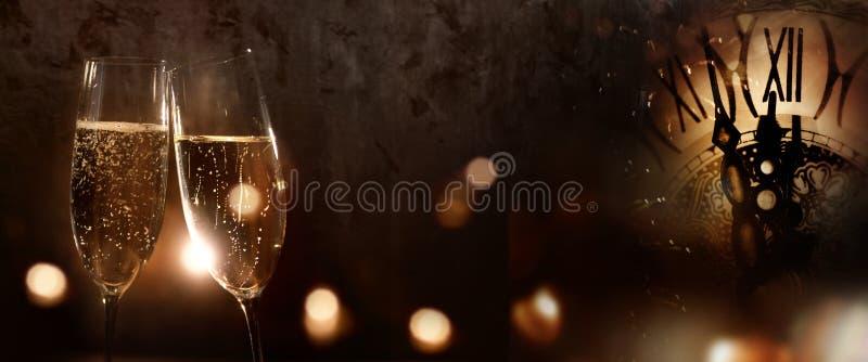 CHAMPAGNE για το νέο έτος στοκ φωτογραφία
