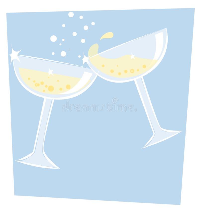 Champagne ilustração royalty free