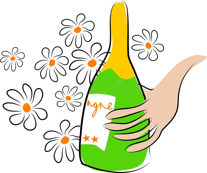 Download Champagne stock vector. Illustration of alcoholic, floral - 116055