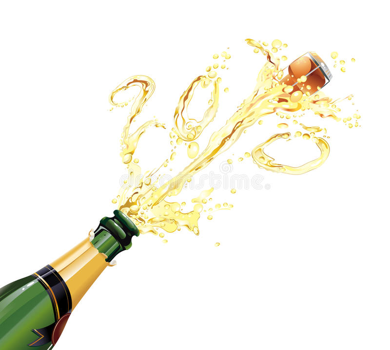 Champagne stock illustratie