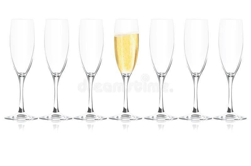Champagne stock illustratie