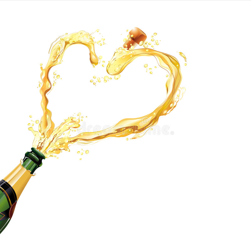 Champagne vector illustratie