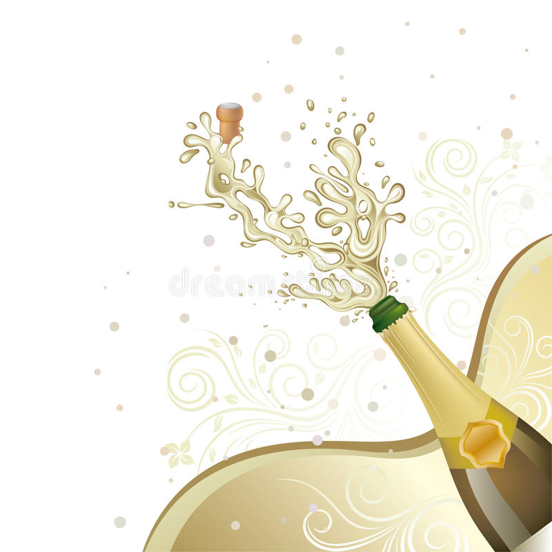 champagne royalty illustrazione gratis