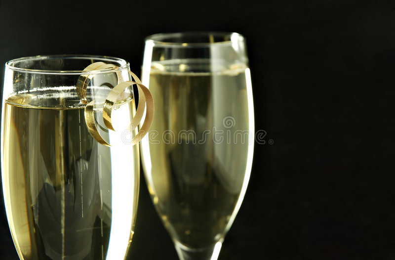 Champagne stock afbeelding