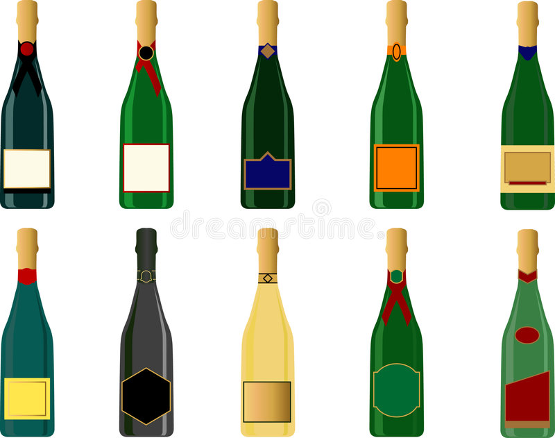 champagne vektor illustrationer