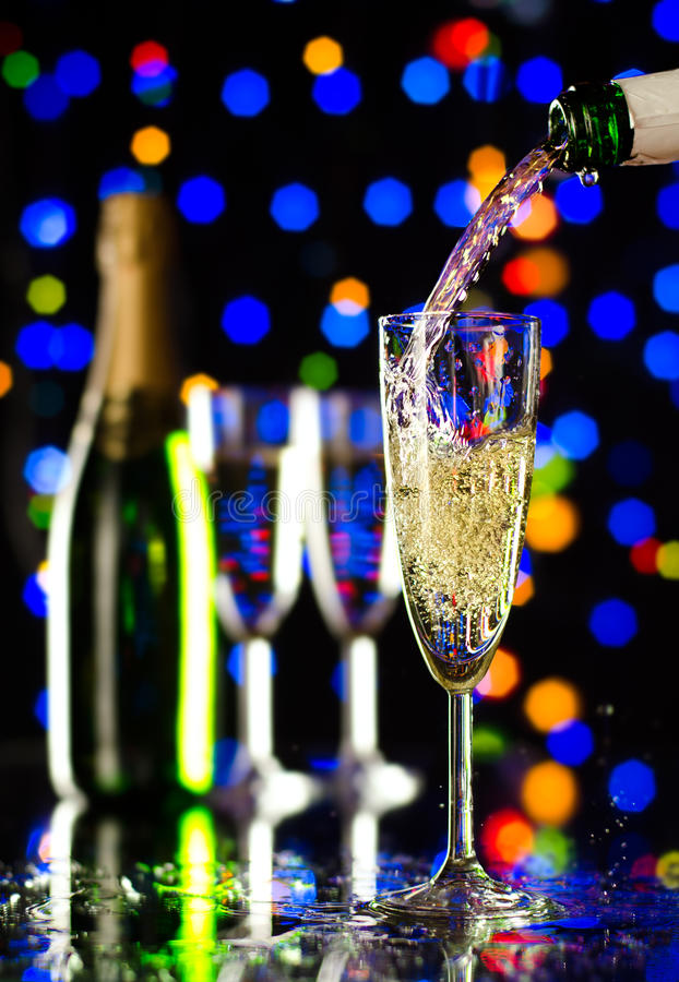 Download Champagne stock photo. Image of celebrations, drink, multicoloured - 25095770