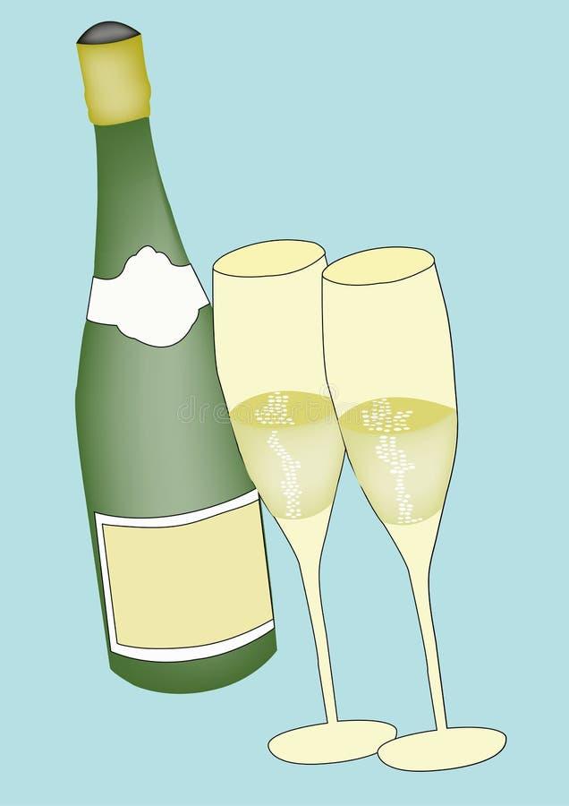 Champagne ilustração stock
