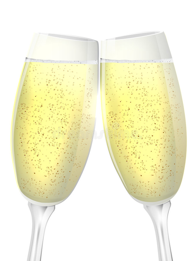 Champagne illustration libre de droits