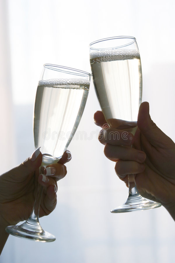 Champagne. Toast royalty free stock photo